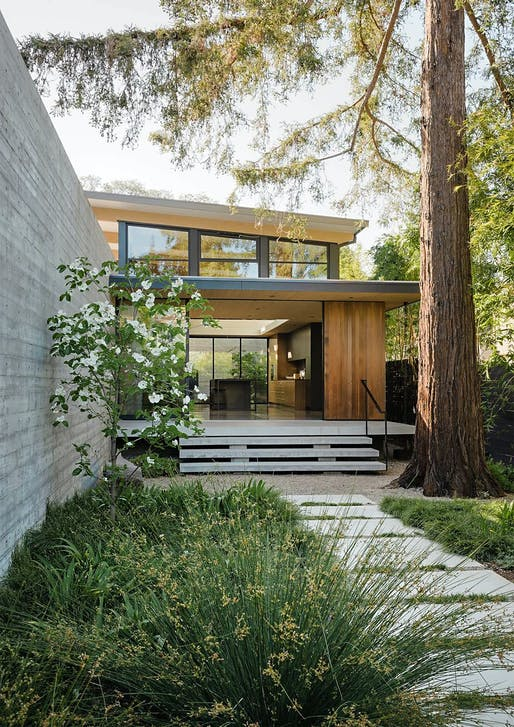 "<a href=""https://archinect.com/firms/project/56240492/the-sanctuary/150196880"">The Sanctuary</a> in Palo Alto, CA by <a href=""https://archinect.com/firms/cover/56240492/feldman-architecture"">Feldman Architecture</a>; Landscape Architect: <a href=""https://archinect.com/firms/cover/150182755/ground-studio-landscape-architecture"">Ground Studio Landscape Architecture</a>; Photo: Joe Fletcher"