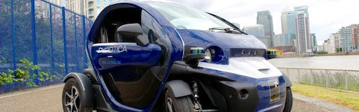 Close up of an Oxbotica driverless car. Image: Oxbotica