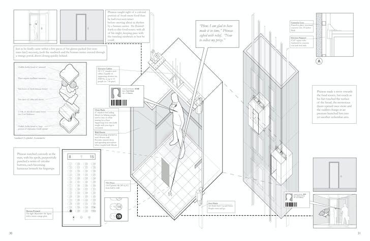 'Elevator Axon.' Image: Architecture Hero