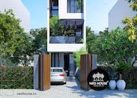 Thiết kế nhà phố 3 tầng đẹp hiện đại tại hoocmon tphcm
