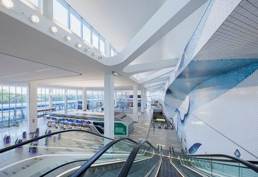HOK's new La Guardia Airport terminal. All image courtesy of LaGuardia Gateway Partners.