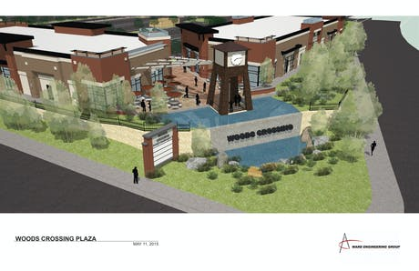 Working on Woods Crossing Plaza Design