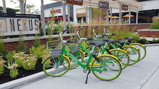 "Parked dockless Lime bikes. Photo: Lorianne DiSabato/<a href=""https://www.flickr.com/photos/zenmama/43886958402/"">Flickr</a>"
