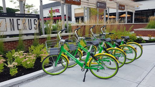Parked dockless Lime bikes. Photo: Lorianne DiSabato/Flickr