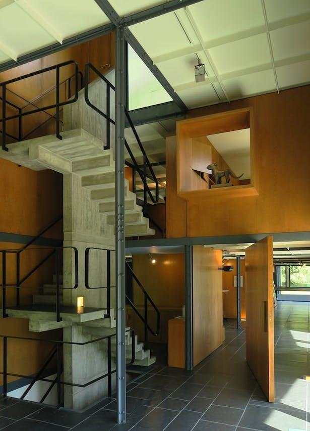Le Corbusier Pavilion, Zurich, Switzerland, photo by Paul Clemence