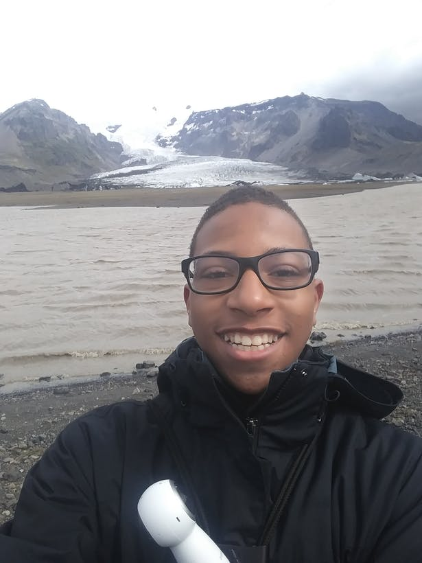 In Iceland learning about how glaciers impact the history and the culture of locals.