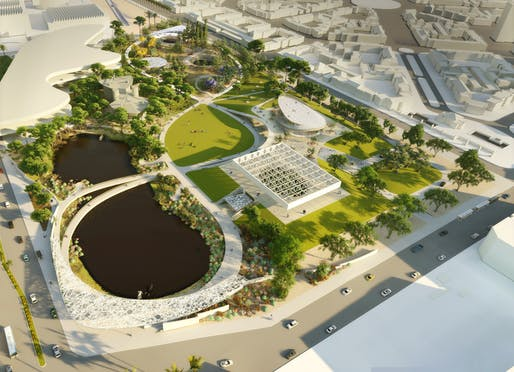 Three competing plans aim to reshape L.A.'s La Brea Tar Pits. Image courtesy of WEISS/MANFREDI Architecture/Landscape/Urbanism.