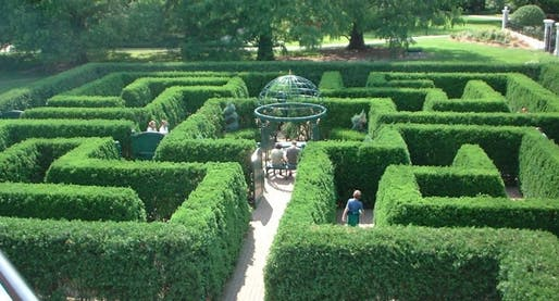The maze at the Missouri Botanical Garden in St. Louis. Image via nextcity.org.