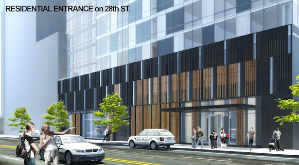 Rendering of Main Entrance on 28th street, Long Island City