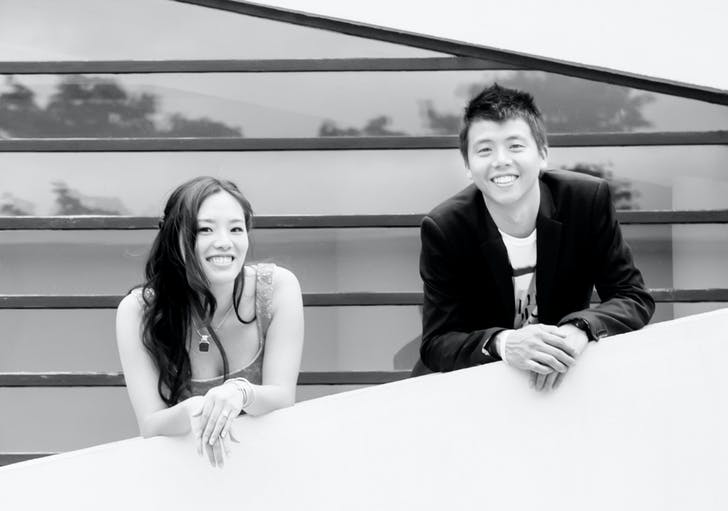 Caroline Chou (left) and Kevin Lim (right), founders of openUU.