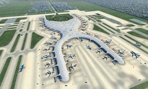 Mexico City International Airport design by Foster + Partners and FR-EE. Image: Foster + Partners.
