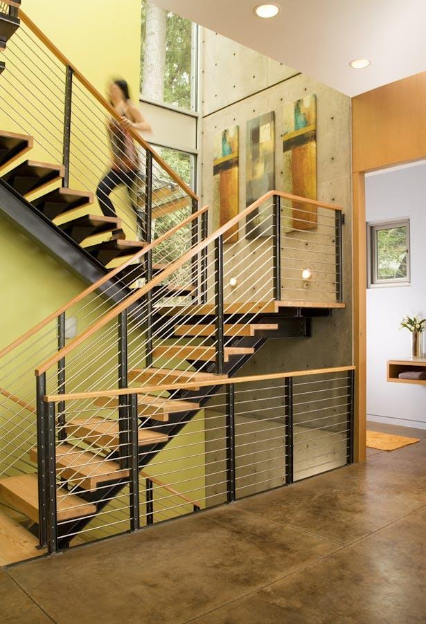 Hansen Road House staircase