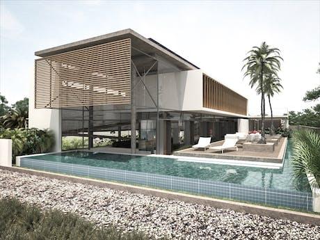Casa en el trópico, anteproyecto de casa de playa en Costa Rica, En curso... 2021
