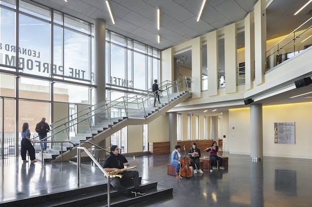 The lobby's grand stair. Photo: Richard Barnes