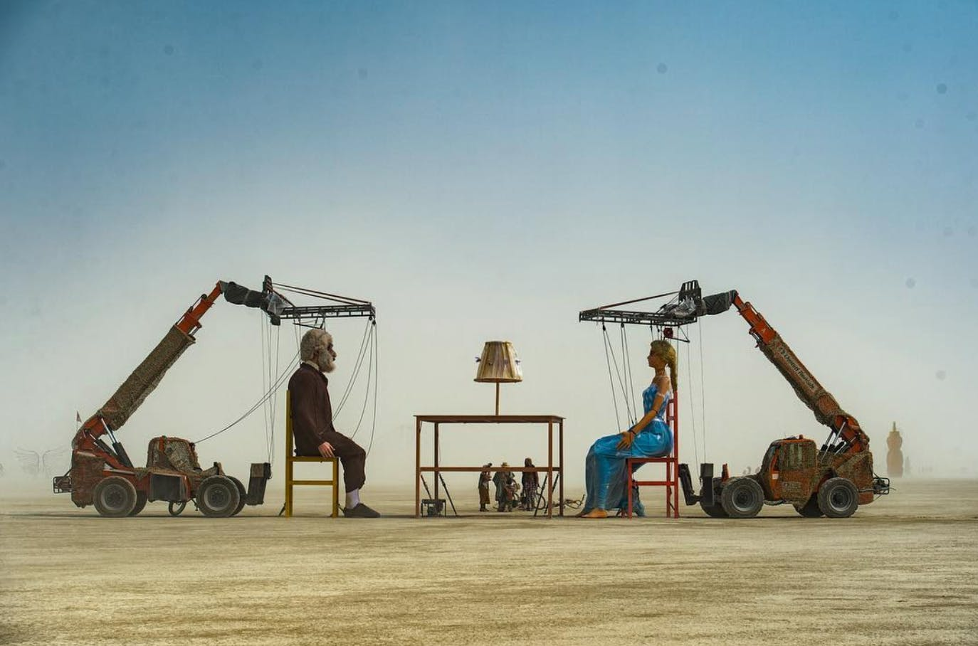 a look at the incredible structures of burning man 2018. Black Bedroom Furniture Sets. Home Design Ideas
