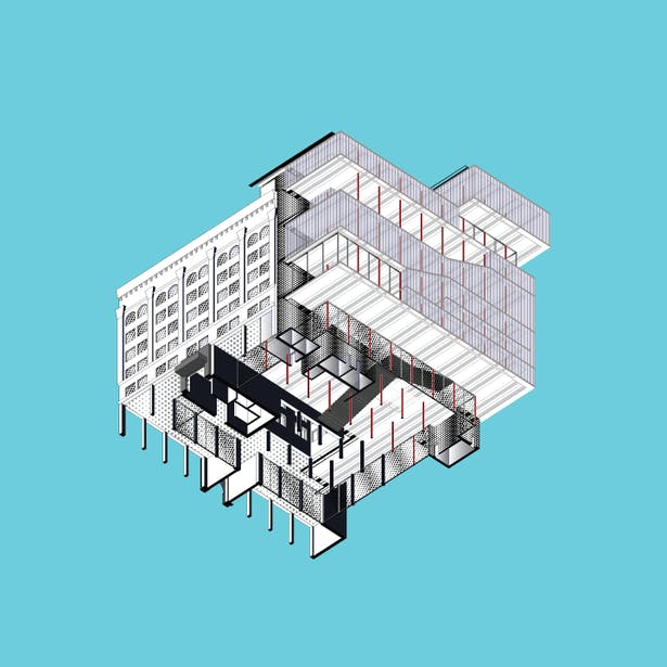 Axonometric from Below