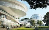 """MAD Architects unveils design for Jiaxing's """"Train Station in the Forest"""""""