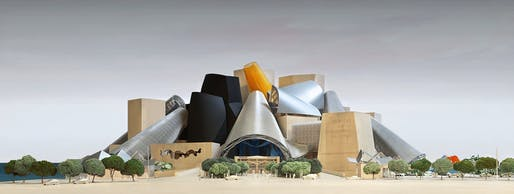 Rendering of the Frank Gehry-designed Guggenheim Abu Dhabi. Image Courtesy of Gehry Partners, LLP