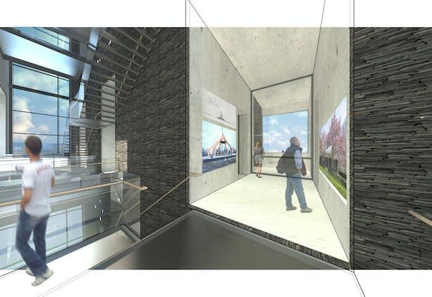 Exhibition Void - Showing Saarinen's works