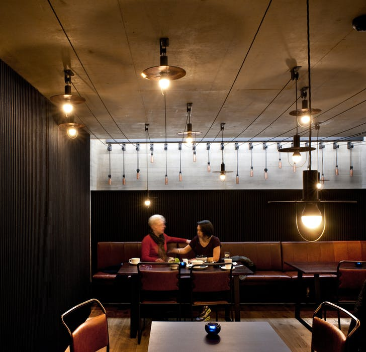 Everyman bistro: Haworth Tompkins with Citizens Design Bureau. Photo by Philip Vile.