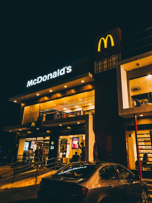 McDonald's is one of the top retailers to reduce construction spending in 2020. Photo by Robi Pastores from Pexels