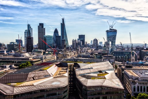 The value of the world's property markets are increasingly coincidental. Shown: The growing London skyline. Image courtesy of PXHere.