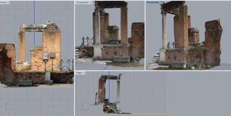 Survey, analysis and representation of architecture Casa dei Crescenzi in Rome