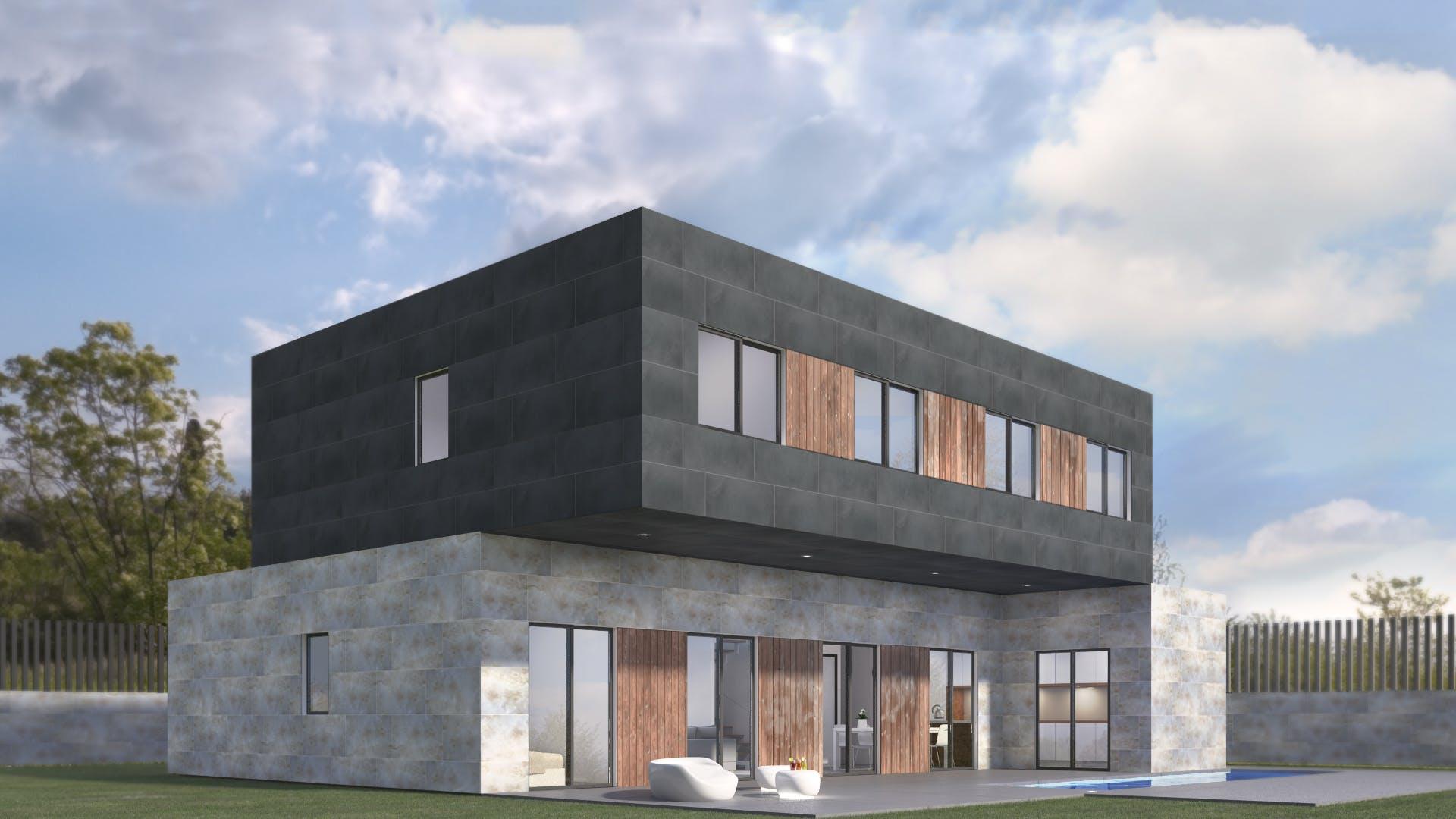 Casas prefabricadas de dise o modelo 5b miguel - Casas diseno prefabricadas ...
