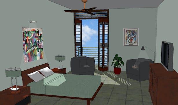 Master bedroom (interior)