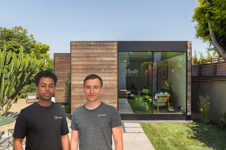 Jemuel Joseph (L) and Alexis Rivas (R), co-founders of © Cover Technologies, Inc.