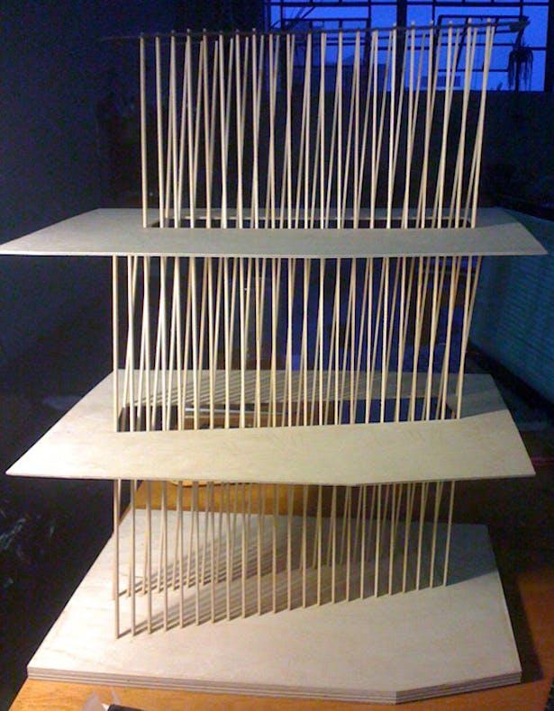 Stair detail model side