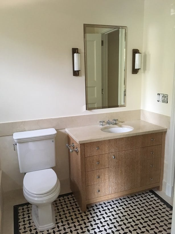 New bathroom configurations and configurations throughout