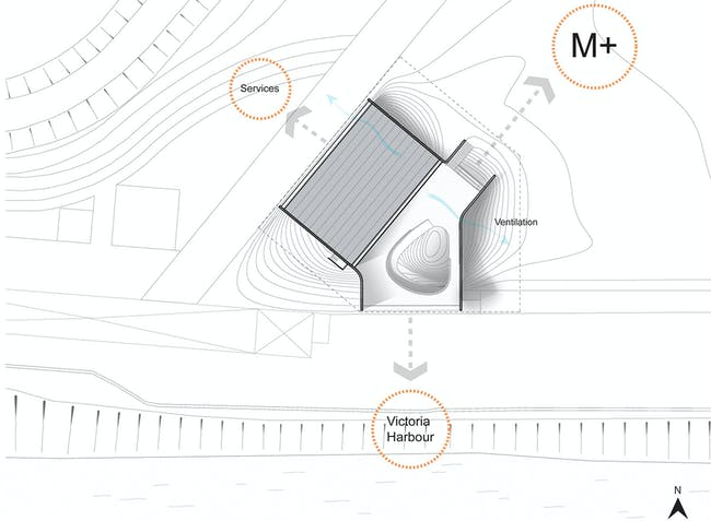Site Plan - 'Floating Art Platform' by VPANG architects + JET Architecture + Lisa Cheung. Image courtesy of VPANG architects.
