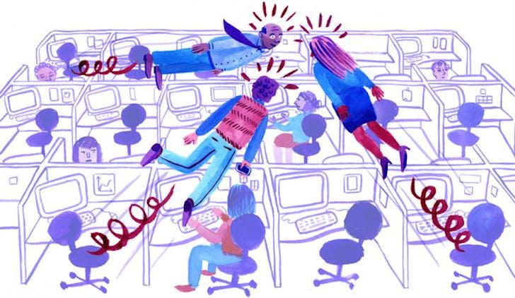 Illustration by Lisa Hanawalt for the New York Times. Image via The New York Times.