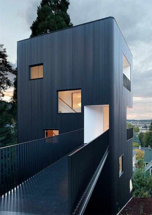 Tower House by Waechter Architecture. Photographer: Lara Swimmer.