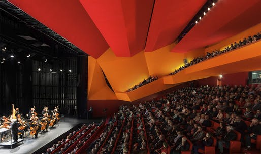 "<a href=""https://archinect.com/dominique-coulon-associes/project/theater-in-freyming-merlebach"">Théodore Gouvy Theatre</a> in Freyming-Merlebach, France by <a href=""https://archinect.com/dominique-coulon-associes"">Dominique Coulon & associés</a>; Photo: Thibaut Muller"