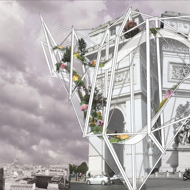 Arc De Triomphe: 'Exterior View' by Parker Ammann.