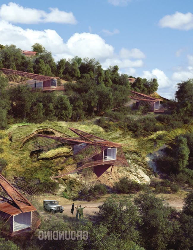 GROUNDING- Landslide Mitigation Housing (hillside view) Jared Winchester : Viktor Ramos