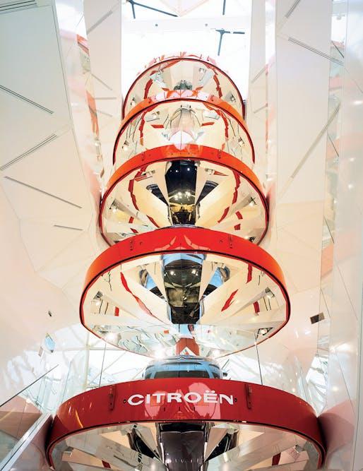"""""""C42"""" Citröen flagship showroom in Paris, France, 2007. Photo: Philippe Ruault."""