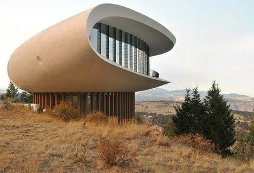 Sculptured House - Sleeper: Woody Allen employs the uncanny appearance of the massive organic concrete structure - with all due respect to the magnificent house - to make a point in his parody of modernism - science fiction comedy 'Sleeper'. (Image: Patrick Young)