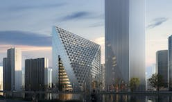 "Construction begins for OMA's Xinhu Hangzhou Prism, ""a pinnacle reaching into the sky"""