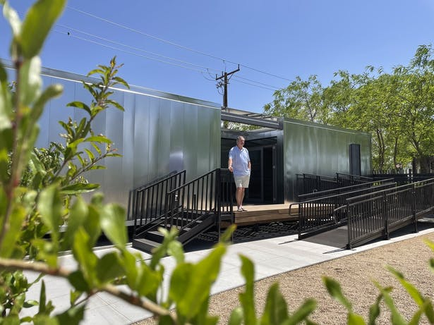 House at the final location, Las Vegas Community Healing Garden