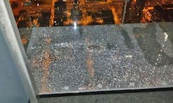 Glass Cracks Below Tourists in Chicago Skydeck