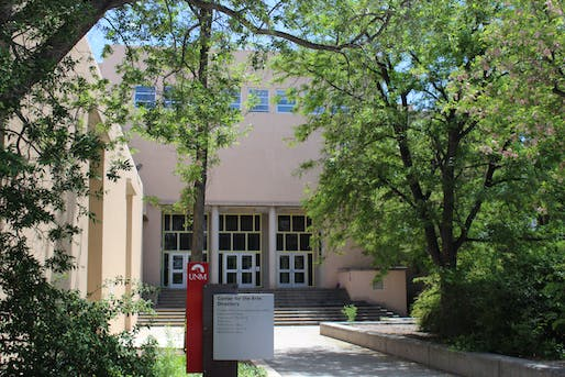 Center for Arts Building. Photo courtesy of the University of New Mexico.
