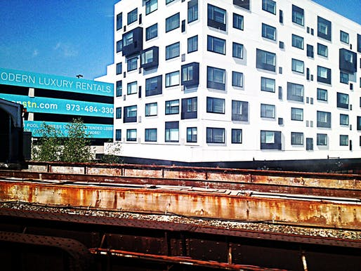 A transit-oriented apartment complex in Newark. Image courtesy of Flickr User Joe Wolf