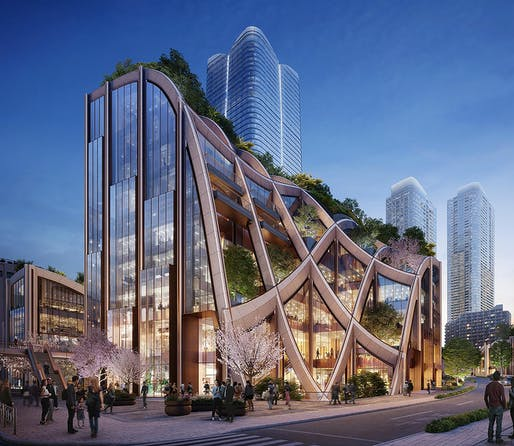 Rendering by DBOX for Mori Building Co.