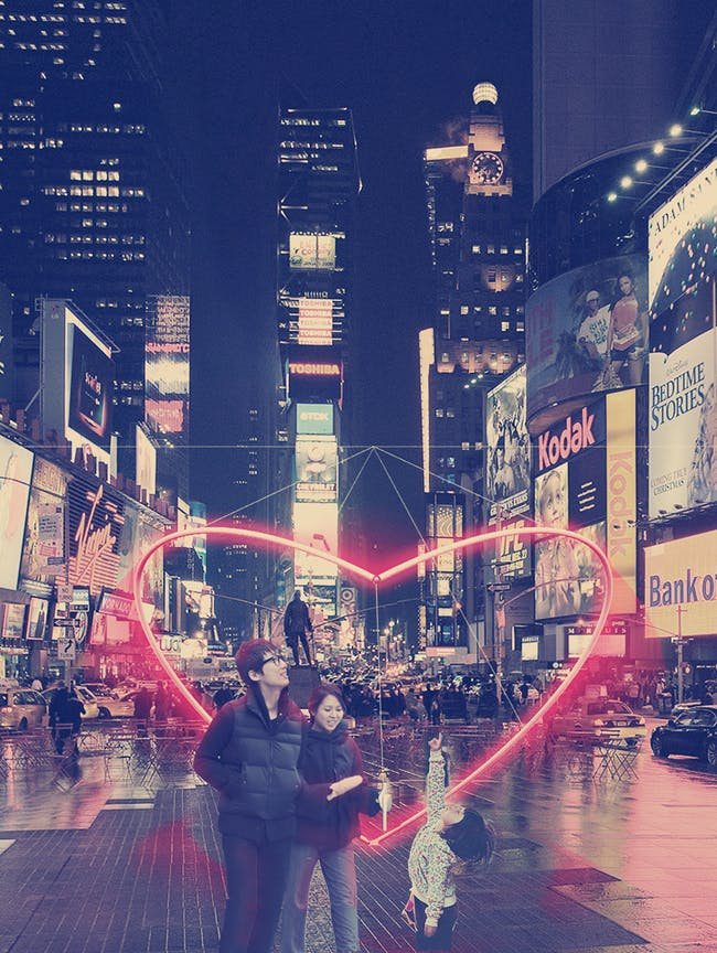 Pernilla Ohrstedt Studio - O Heart. Finalist entry for 2014 Times Square Heart Design. Image courtesy of 2014 Times Square Heart Design competition