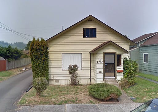 The childhood home of Kurt Cobain in Aberdeen, Washington. Image via Google Street View.