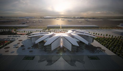 Qatar Civil Aviation Authority Headquarters Image © Grimshaw
