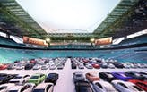 Hard Rock Stadium in Miami rethinks the drive-in movie typology